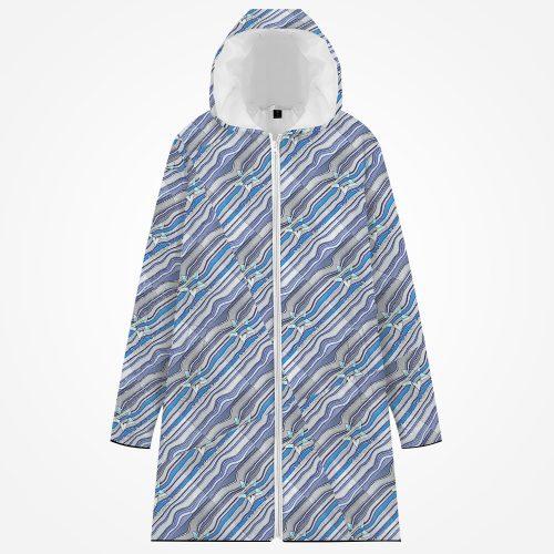 Long Cotton Zip-Up Hoodie